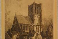 De St. Catharijnekerk te Brielle, gezien vanuit het Asylplein (Collectie Historisch Museum Den Briel; inv nr 0052)