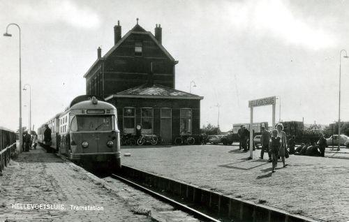 Het tramstation in Hellevoetsluis