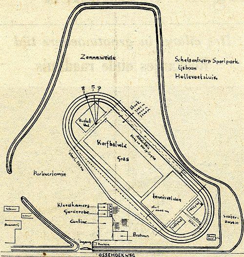 Het plan voor een sportcomplex, zoals de ijsvereniging dat voor ogen had